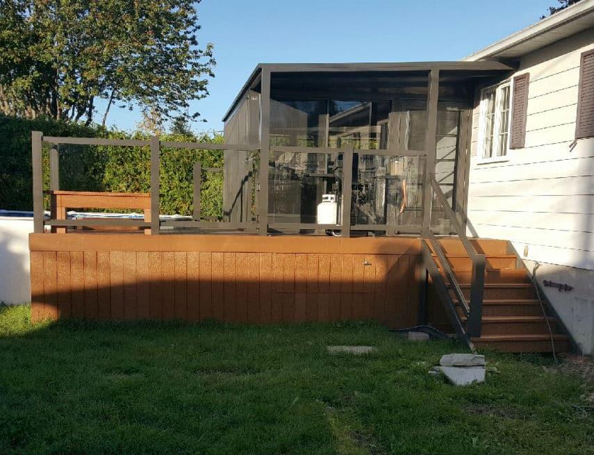 Proget de balcon en pvc avec abri tendal