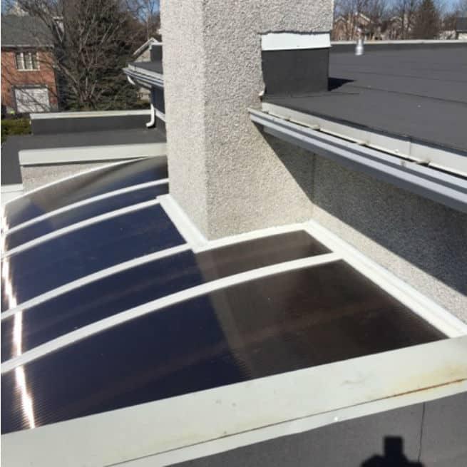 Vu du toit d'un solarium tendal