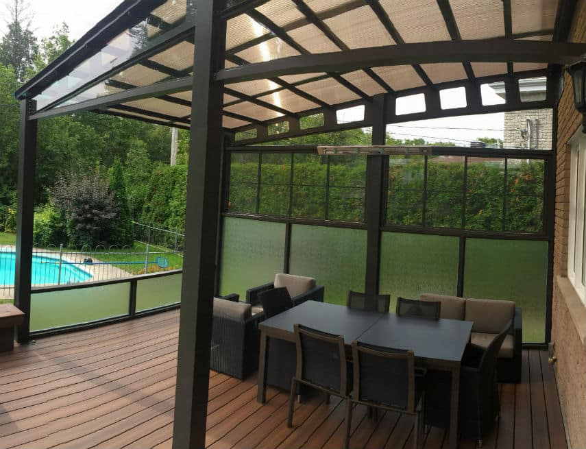 terrasse auvent trendy auvent de jardin elegant tonnelle pergola toiture de terrasse with. Black Bedroom Furniture Sets. Home Design Ideas