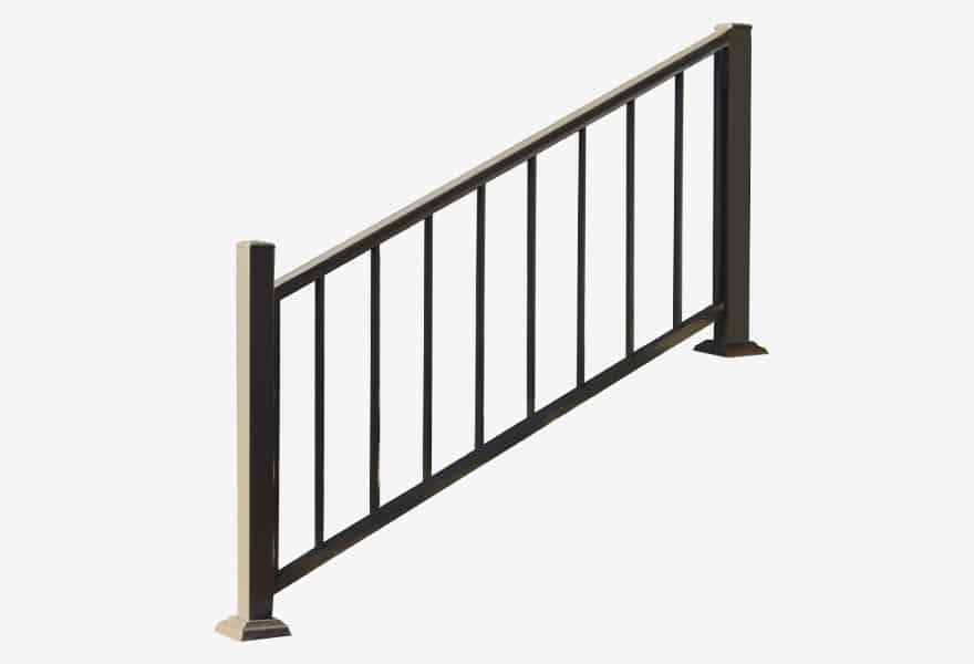 escalier en aluminium avec marches pvc