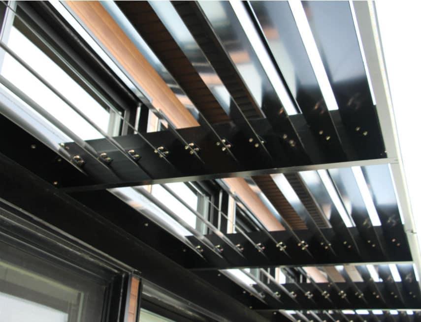 pergola en aluminium structural peinture noir