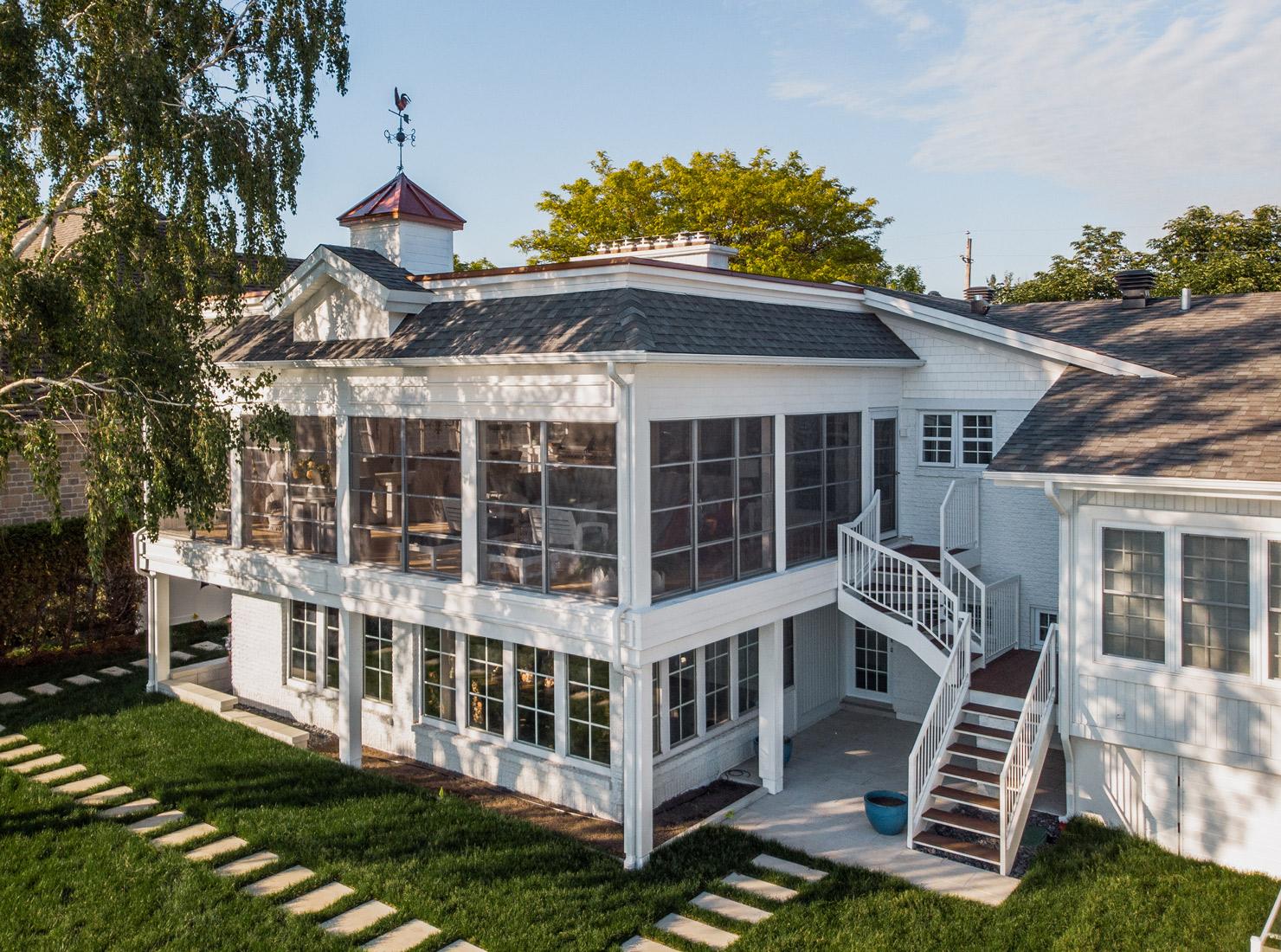 Espace balcon fermé avec fenêtres 3 saisons